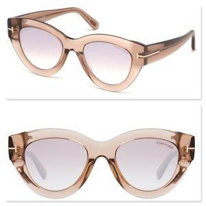 New TOM FORD Slater Cat Eye Clear Sunglasses